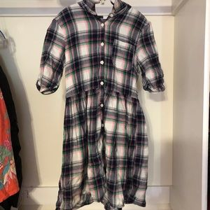 Plaid/Flannel girls 3/4 sleeve dress from Gap Kids